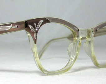 Vintage 60s Cat Eye Eyeglasses. American Optical. Combo Frames.