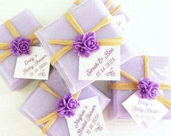 Favor Soaps, Soap Favors, Bridal Shower Soap Favors, Baby Shower Soap Favors, Wedding Soap Favors, Lavender Soap Favors, Purple Soap Favors