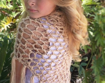 Net Shawl Crochet Pattern, Summer Shawl Pattern, Net Shawl Pattern, Crochet Pattern, Fringe Scarf Pattern, Adalynne Summer Shawl Pattern