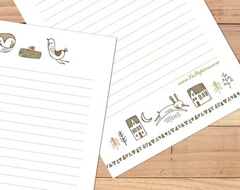 Woodland Whimsy - A5 Stationery - 12, 24 or 48 sheets