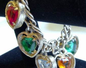 ART Chunky Heart Charm Bracelet