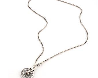SILVER PENDANT NECKLACE/ Silver Pendant Zodiac Gold /silver necklace/ birthday gift idea/Handmade Pendant Zodiac/ silver jewelry Design