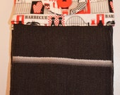 Set of Two Handmade Hanging Kitchen Towels- Kitchen, BBQ, and Jam - Kitchen Towels- Hanging Towels- Bathroom Towels
