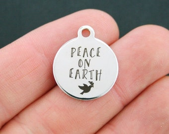 Peace Stainless Steel Charm - Peace on Earth - Exclusive Line - Quantity Options  - BFS720