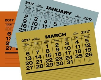 Bauhaus Style Calendar 2017 - 12 pages!