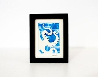 Mini Octopus Paper Cut - Nautical Silhouette Collage