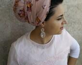 head scarf, hijab, israeli tichels, headband tichel, fancy headbands, jewish snoods. head bandana