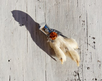 Scottish Grouse Foot Topaz Stag Kilt Pin Brooch