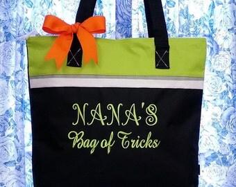 Personalized Tote Bag Nana's Bag of Tricks, Grandma's Goodie Bag
