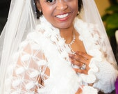 Bridal Scarf, Shawl, Bolero,Wedding Cape, Wedding Shrug, Ivory Shawl,Bridal Cover Up, Bridal Bolero,Crochet Shawl,Bridal Cloak, Wedding Wrap