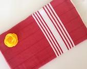 TURKISH BATH TOWEL,  Eco-friendly Peshtemal, Natural Soft Cotton, Bathroom, Beach, Spa, Yoga Towel, mothers,  Red