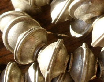 Moroccan tarnished very small plain round bead