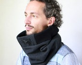 Warm wool cowl scarf, Men's Cowl, Scarves Men, Snock® in new ribbed top