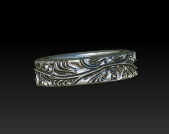 Leaves ring.leaf vine ring.dress ring. Wedding ring. wedding band. ring. band. promise ring .leaf ring GR4