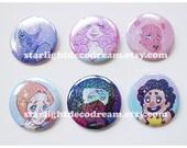 Steven Universe Sparkly Button for Fairy Kei, Mahou Kei, Magical Girl Fashion