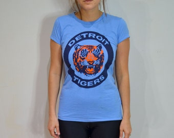 Detroit Tigers Tshirt Womens 1984 Tigers World Series Logo Opening Day 2017 Baseball Mom
