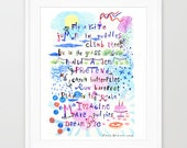 Nursery Quotes Kids Art Print. Baby room art. Kids room decor.  Nursery wall art. Back to school. Kids bedroom decor. Playroom art print