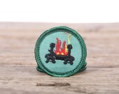 "Vintage Girl Scout Patch / 1970's Scout Patch / Hearth Fireplace Cooking Patch / Home Health Badge / 1.5"" Girl Scouts Patch / Scout Badge"