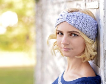 Turban Headband Women / Turban Head Wrap / Turban Ear Warmer Headband / Boho Headband Head Wrap / Crochet Ear Warmers / Crochet Headband