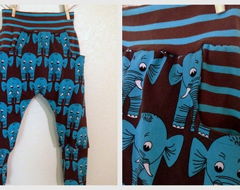Boy Girl Harem Pants pattern Pdf sewing, Knit Jersey Fleece, Cuff Waist NINJA Pants, Toddler Kids 3 4 5 6 7 8 9 10 years Instant Download