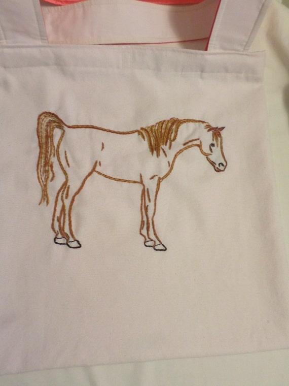 Items similar to arabian horse shoulder bag sorrel brown