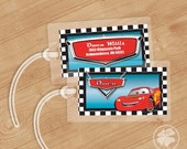 Lightning McQueen - Luggage Tag, Bag Tag, Backpack Tag, ID Tags, Personalized, Custom