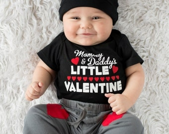 Mommy and Daddy's Little Valentine, Valentines Outfit, Mommy & Daddy's Little Valentine T-Shirt, Baby Items, Valentines Clothing Baby Gift