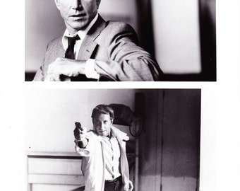 Vintage 1989 Roy Scheider 8x10 Black and White Photograph - Studio Promotion - Night Game - Movie Promotional Photo - Hollywood - Critics