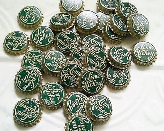 30 Vintage Lime Rickey Bottle Caps