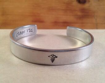Medical Alert Bracelet,Personalized Medical ID Bracelet,Medical Cuff Bracelet,Personalized Medical Bracelet,Epilepsy,Allergy,Diabetic Alert