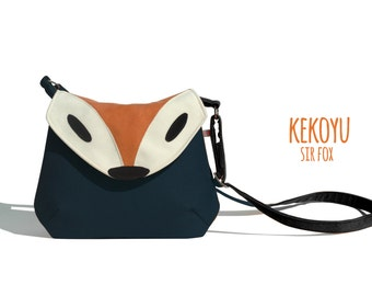 Crossbody Bag Sir Fox Small Cross Body Purse Handbag Fox Bag Handmade Purse Small Bag 7 Colors