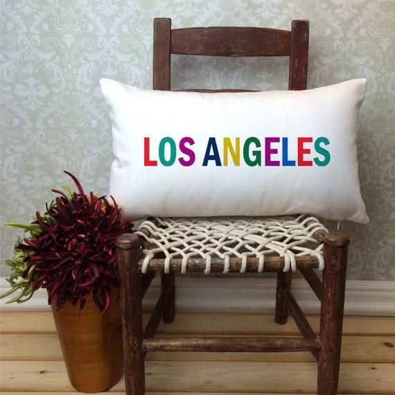 Los Angeles Pillow Long Pillow City Pillow Home Decor