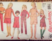 Simplicity 7189, Sewing Pattern, Girl's, 60's Pattern, Size 14, Dress and Pants
