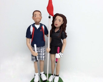 Custom Golfing Cake Topper Wedding Toppers from your Ideas and Photos