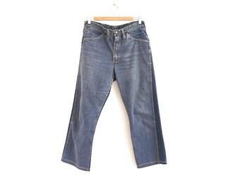 80s vintage cropped jeans// low waist vintage jeans// 31W