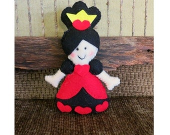 Alice in Wonderland The Queen of Hearts, Stuffed Toy, Children's Play Soft Toys, Nursery Rhymes, Kids Plushie