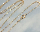 """16"""" Gold Cable Chain, Solid 14k Gold Cable Chain Necklace, 1.5mm Cable Chain, Real Gold Pendent or Layer Chain, Minimalist Women Chain"""