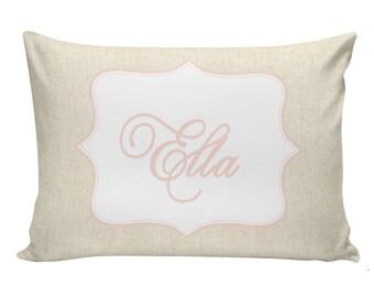 Personalized baby pillow, Newborn gift, girls pillow, NAME, custom, throw pillow, baby gift idea #CU0001