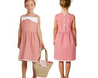 Girls Dress Pattern PDF, Girls clothing pattern, Childrens sewing pattern PDF, girls sewing pattern, party dress pattern, BECKY