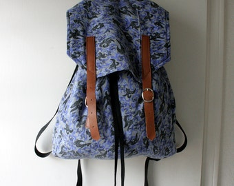 Handmade Backpack from reused fabric