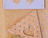 Heart Bunting Pack: Silver Patterns