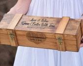 Ceremony Wine Box - Wine Capsule - Wedding Wine Box - Rustic Wedding Shabby Chic Wedding - Lockable Wine Box - Personalized Wine Box Gift