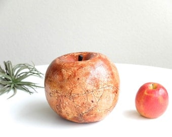 XL ceramic apple sculpture , 1970s