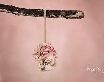 Elegant Ella Headband, Pink Vintage Headband