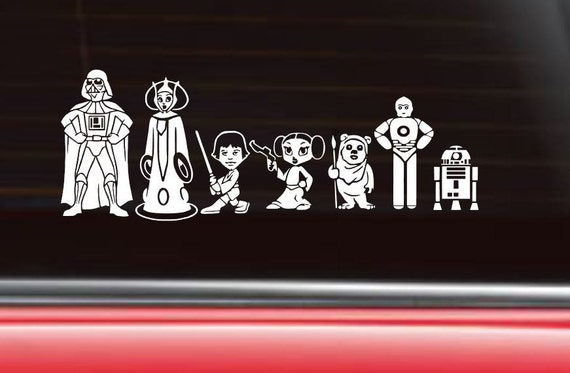 personalized star wars family car decal the empire. Black Bedroom Furniture Sets. Home Design Ideas