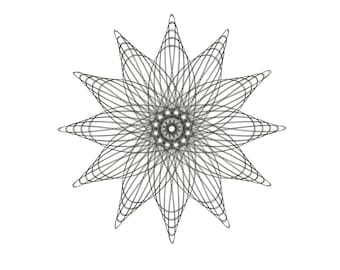 Flower Line Drawing, Original ink Drawing Intricate Art, Flower Modern Abstract Flower, Line Pattern