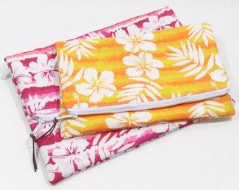 Clutch Purse, Fold Over Clutch, Zipper Clutch Bag, Fold Over Purse, Custom Clutch, Zipper Clutch, Vacation Clutch, Beach Wedding