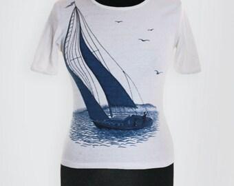 1970s Nautical Graphic T-Shirt