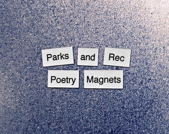 Parks and Recreation Refrigerator Magnets, Poetry Word Magnets, Parks and Rec, Free Gift Wrap