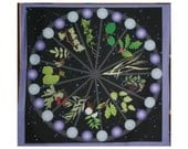 Altar Cloth or Tarot Cloth - Celtic Tree Calendar - Pagan Altar Cloth, Wiccan Altar Cloth, Wicca, Ritual, Celtic, Wheel of the Year